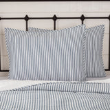 "Sawyer Mill Blue Ticking Stripe Standard Sham 21x27"" - Primitive Star Quilt Shop"