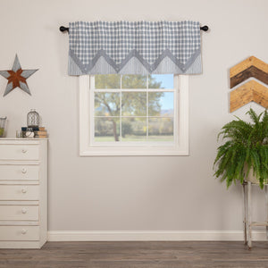 Sawyer Mill Blue Layered Lined Valance 60""