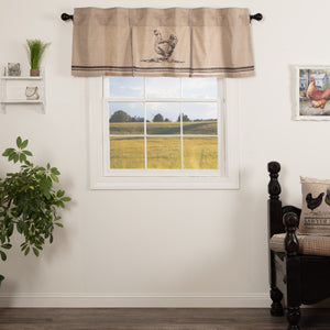 Sawyer Mill Charcoal Chicken Lined Valance 60""