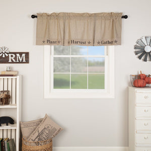 Sawyer Mill Charcoal Gather Lined Valance 60""