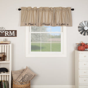 Sawyer Mill Charcoal Gather Lined Valance 72""
