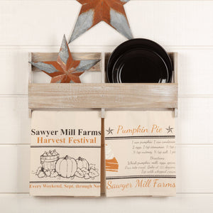 Sawyer Mill Charcoal Harvest Tea Towel - Set of 2