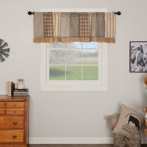 Sawyer Mill Charcoal Patchwork Lined Valance 60""