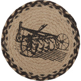 "Sawyer Mill Charcoal Plow Braided Trivet 8"" - Primitive Star Quilt Shop"