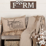 "Sawyer Mill Charcoal Plow Pillow 14x22"" Filled - Primitive Star Quilt Shop"