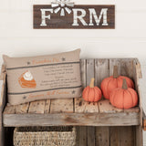 "Sawyer Mill Charcoal Pumpkin Pie Pillow 14x22"" Filled - Primitive Star Quilt Shop"