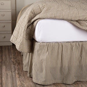Sawyer Mill Charcoal Ticking Stripe Bed Skirt