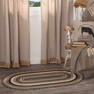 Sawyer Mill Charcoal Oval Braided Rug 27x48""