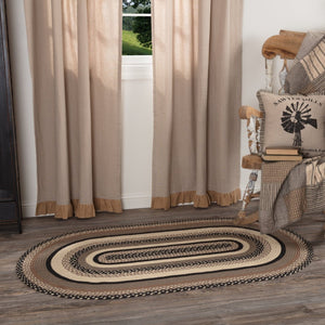 Sawyer Mill Charcoal Oval Braided Rug 36x60""