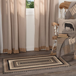 Sawyer Mill Charcoal Rectangle Braided Rug 27x48""