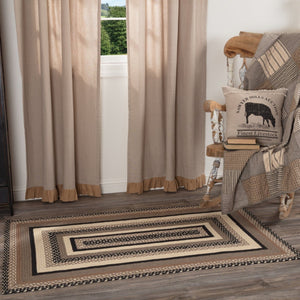 Sawyer Mill Charcoal Rectangle Braided Rug 36x60""