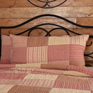 Sawyer Mill Red Quilted King Sham 21x37""