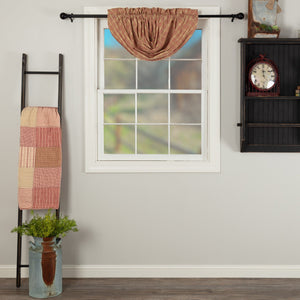 Sawyer Mill Red Plaid Lined Balloon Valance
