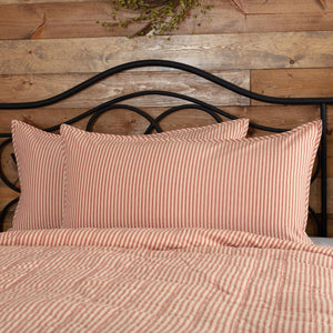 Sawyer Mill Red Ticking Stripe King Sham 21x37""