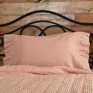 Sawyer Mill Red Ticking Stripe Standard Pillow Case - Set of 2