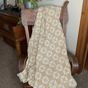 Shadowbrook Mustard and Creme Woven Throw