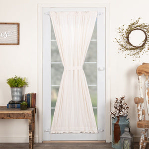 Simple Life Flax Antique White Lined Door Panel Curtain 72""