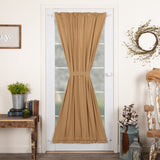 "Simple Life Flax Khaki Lined Door Panel Curtain 72"" - Primitive Star Quilt Shop"