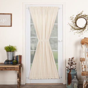Simple Life Flax Natural Lined Door Panel Curtain 72""