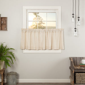 Simple Life Flax Natural Tier Curtains 24""