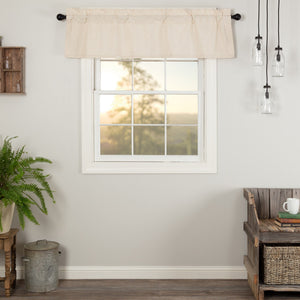 Simple Life Flax Natural Valance 60""