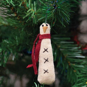 Skinny Snowman Ornament - Set of 6