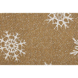 "Snowflake Burlap Stocking 12x20"" - Primitive Star Quilt Shop"