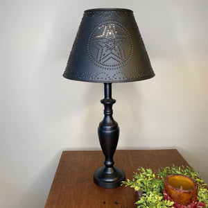 Stonecreek Black Lamp with Black Star Metal Shade