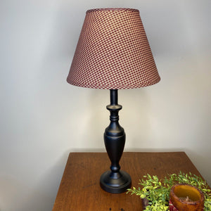 Stonecreek Black Lamp with York Wine Shade