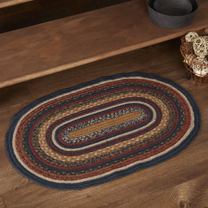 "Stratton Oval Braided Rug 20x30"" - with Pad"