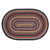 "Stratton Oval Braided Rug 20x30"" - with Pad - Primitive Star Quilt Shop"