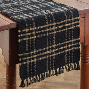 Sturbridge Black Chindi Table Runner 36""