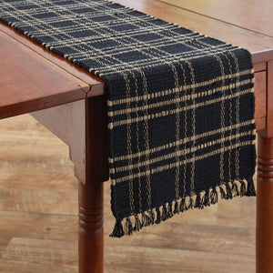 Sturbridge Black Chindi Table Runner 54""