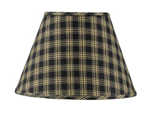 Sturbridge Black Fabric Lamp Shade - 10""