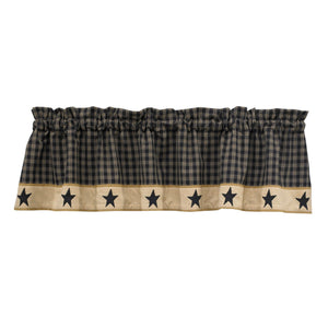 Sturbridge Black Star Lined Valance 60""