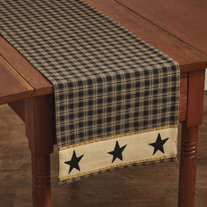 Sturbridge Black Star Table Runner 54""