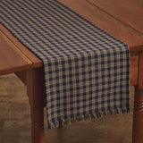 "Sturbridge Navy Table Runner 54"" - Primitive Star Quilt Shop"
