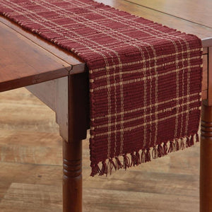Sturbridge Wine Chindi Table Runner 54""