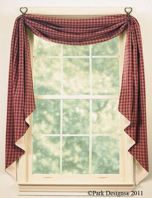 Sturbridge Wine Lined Fishtail Swag Curtain
