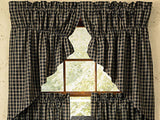 Sturbridge Navy Lined Prairie Swag Curtains - Primitive Star Quilt Shop