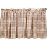 "Tacoma Lined Tier Curtains 24"" - Primitive Star Quilt Shop"