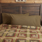 Tea Cabin King Pillow Case - Set of 2 - Primitive Star Quilt Shop