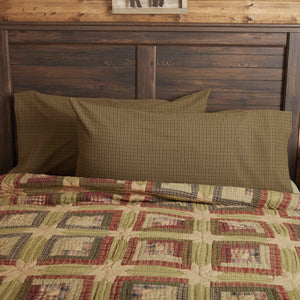 Tea Cabin King Pillow Case - Set of 2