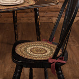 "Tea Cabin Braided Chair Pad 15"" - Set of 6 - Primitive Star Quilt Shop"