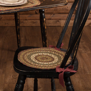 "Tea Cabin Braided Chair Pad 15"" - Set of 6"