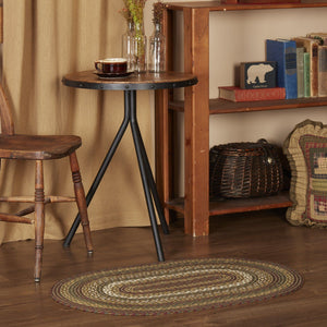 Tea Cabin Oval Braided Rug 24x36""