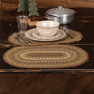 "Tea Cabin Braided Placemat 12x18"" - Set of 6"