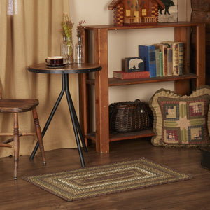 "Tea Cabin Rectangle Braided Rug 24x36"" - with Pad"