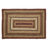 "Tea Cabin Rectangle Braided Rug 24x36"" - Primitive Star Quilt Shop"
