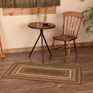 "Tea Cabin Rectangle Braided Rug 27x48"" - with Pad"